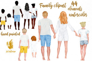 Print on Demand: Summer Family Clipart Family Figures Graphic Illustrations By LeCoqDesign