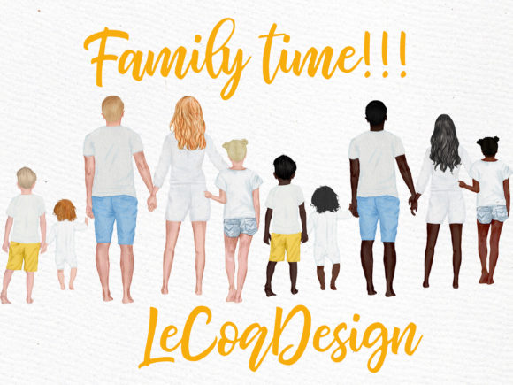 Summer Family Clipart Family Figures Graphic Illustrations By LeCoqDesign - Image 5