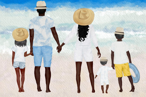 Summer Family Clipart Family Figures Graphic Illustrations By LeCoqDesign - Image 6