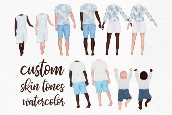 Download Free Summer Family Clipart Family Figures Graphic By Lecoqdesign for Cricut Explore, Silhouette and other cutting machines.