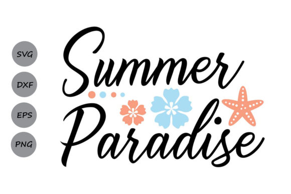 Download Free Summer Paradise Graphic By Cosmosfineart Creative Fabrica for Cricut Explore, Silhouette and other cutting machines.