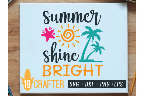 Print on Demand: Summer Sun Shine Bright Svg Printable Graphic Crafts By great19