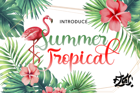Print on Demand: Summer Tropical Script & Handwritten Font By Fallengraphic