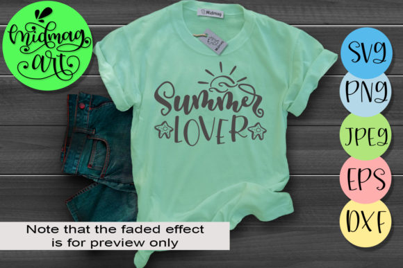 Summer Lover Graphic Objects By MidmagArt