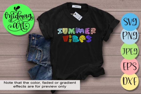 Summer Vibes Svg, Summer Svg Graphic Objects By MidmagArt - Image 1
