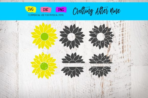 Print on Demand: Sunflower Bundle, Distressed Flower Graphic Crafts By Crafting After Nine