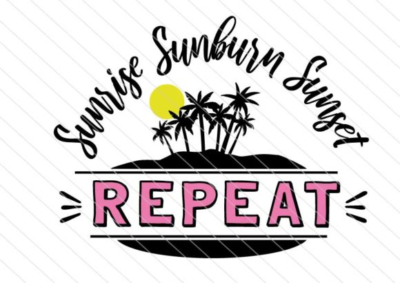 Download Free Sunrise Sunset Sunburn Summer Svg Graphic By Betta Mayer for Cricut Explore, Silhouette and other cutting machines.
