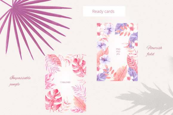 Print on Demand: Sunset in the Tropics Clipart Set Graphic Illustrations By dinkoobraz - Image 3