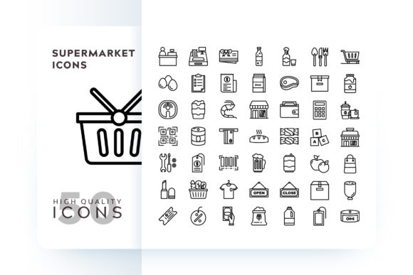 Supermarket Icons Graphic Icons By Goodware.Std