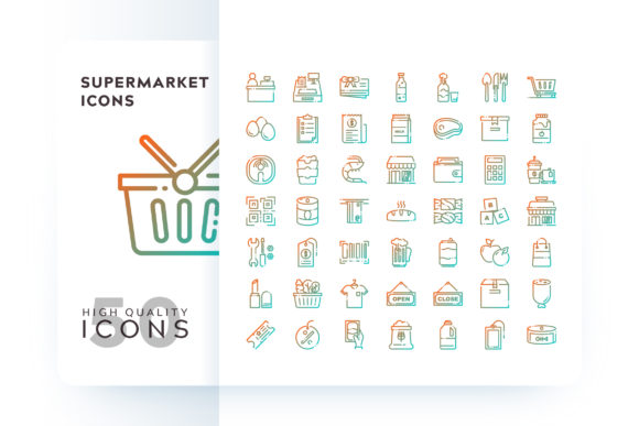 Supermarket Icons Graphic By Goodware.Std