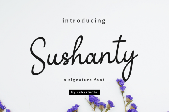 Print on Demand: Sushanty Script & Handwritten Font By Suby Store