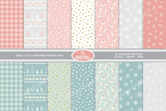 Sweet Little Christmas Pattern Pack Graphic Patterns By TL Digital