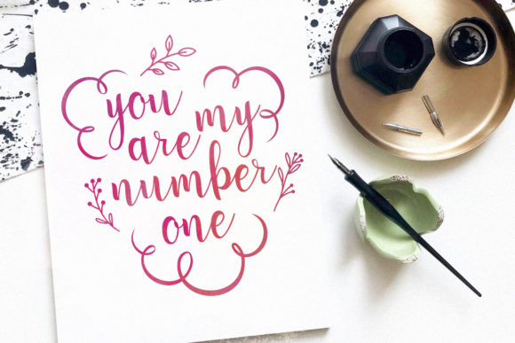 Print on Demand: Sweet Love Script & Handwritten Font By HansCo - Image 5