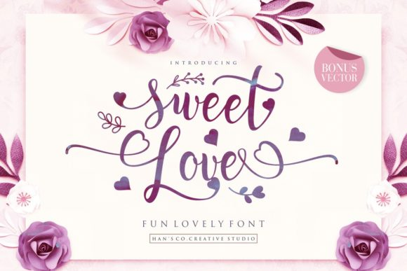 Print on Demand: Sweet Love Script & Handwritten Font By HansCo - Image 1