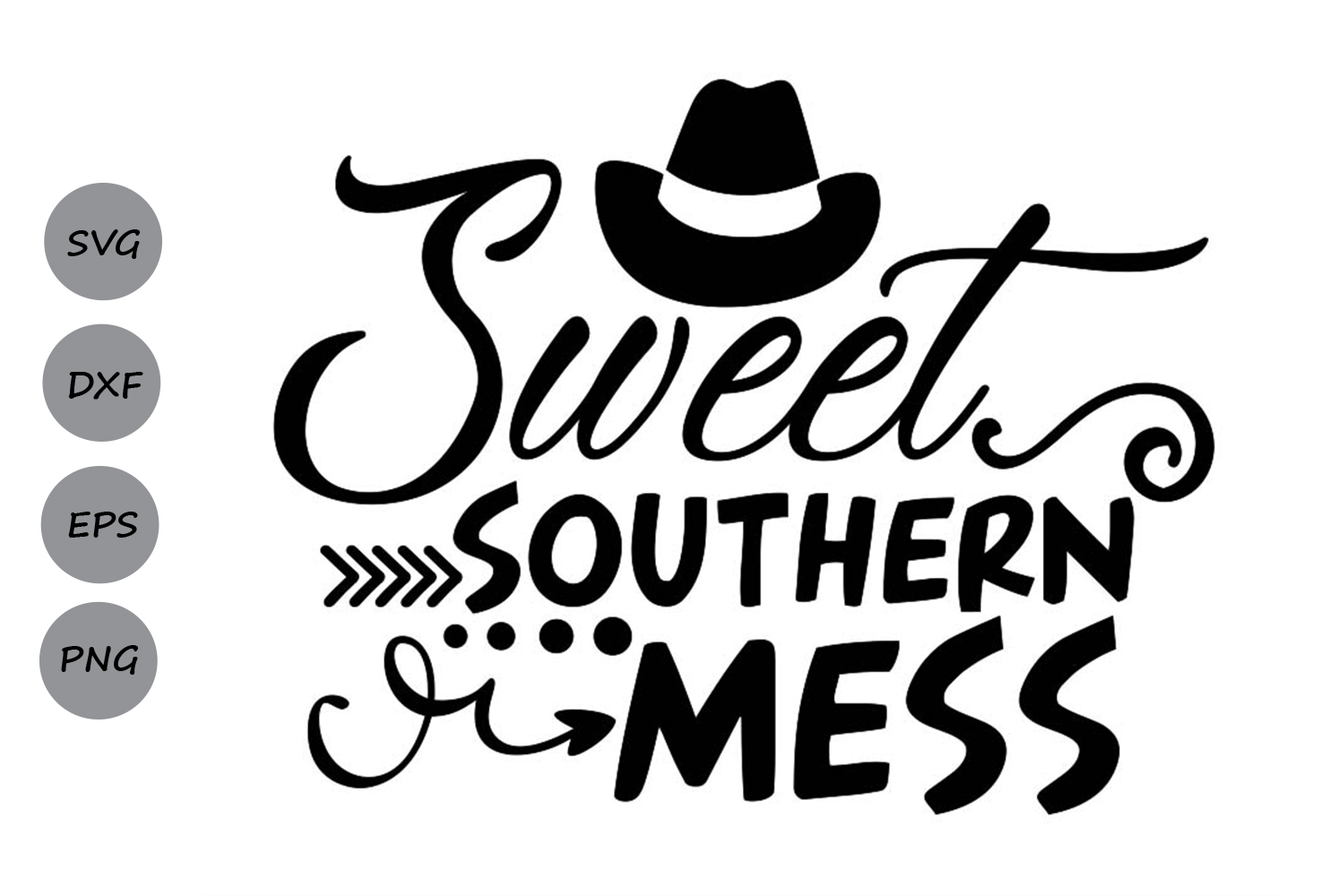Download Free Sweet Southern Mess Graphic By Cosmosfineart Creative Fabrica for Cricut Explore, Silhouette and other cutting machines.