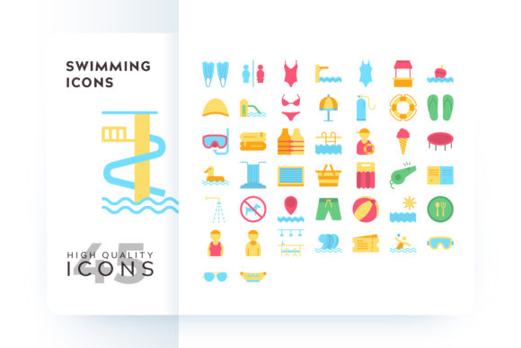 Swimming Icons Graphic By Goodware.Std