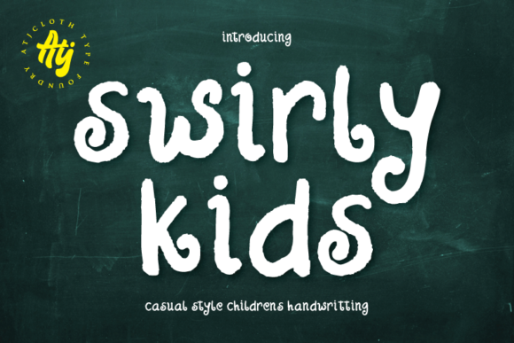 Print on Demand: Swirly Kids Script & Handwritten Font By Atjcloth Studio