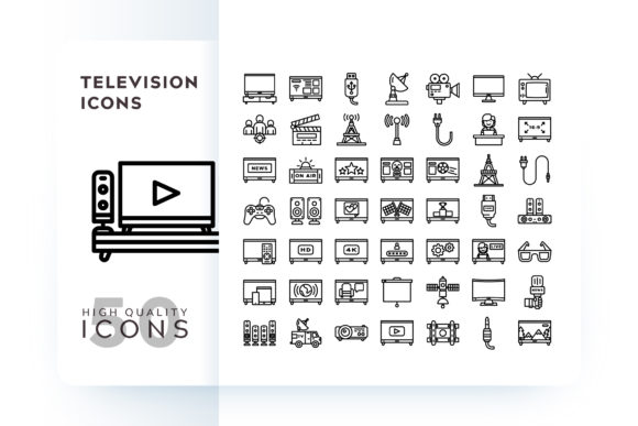 TELEVISION ICON Graphic Icons By Goodware.Std