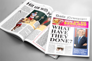Tabloid Newspaper Template Graphic By denestudios