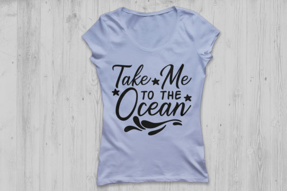 Download Free Take Me To The Ocean Svg Graphic By Cosmosfineart Creative Fabrica for Cricut Explore, Silhouette and other cutting machines.