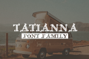 Tatianna Family Display Font By Craft-N-Cuts