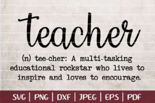 Download Free Teacher Definition Cut File Graphic By Seventhheaven Studios for Cricut Explore, Silhouette and other cutting machines.