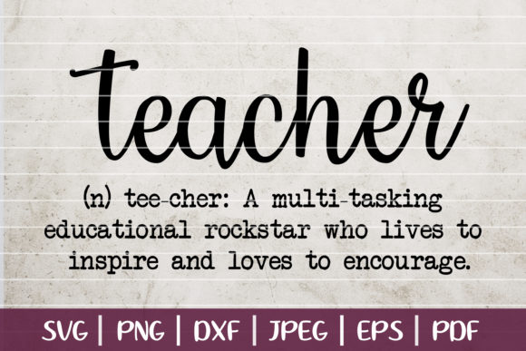 Teacher Definition Graphic Logos By SeventhHeaven Studios