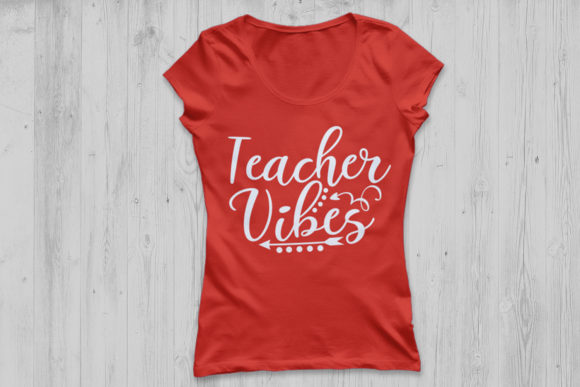 Download Free Teacher Vibes Graphic By Cosmosfineart Creative Fabrica for Cricut Explore, Silhouette and other cutting machines.