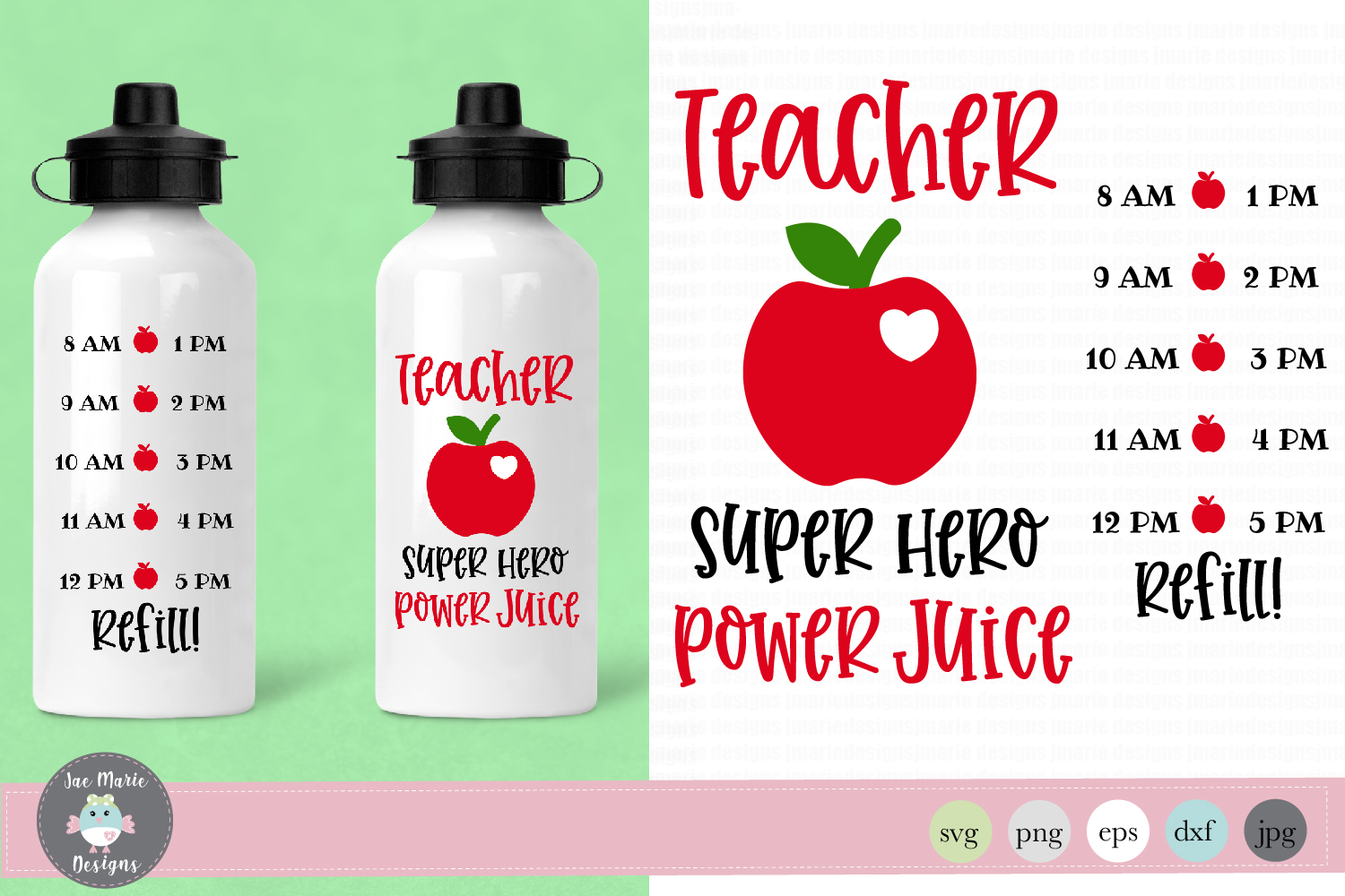 Download Free Teacher Water Bottle Tracker Graphic By Thejaemarie Creative for Cricut Explore, Silhouette and other cutting machines.