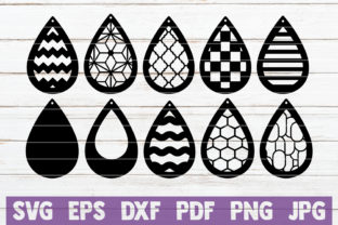 Download Free Teardrop Earrings Bundle Graphic By Mintymarshmallows Creative for Cricut Explore, Silhouette and other cutting machines.
