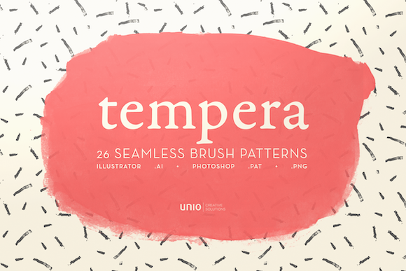 Tempera Brush Patterns Graphic By unio.creativesolutions