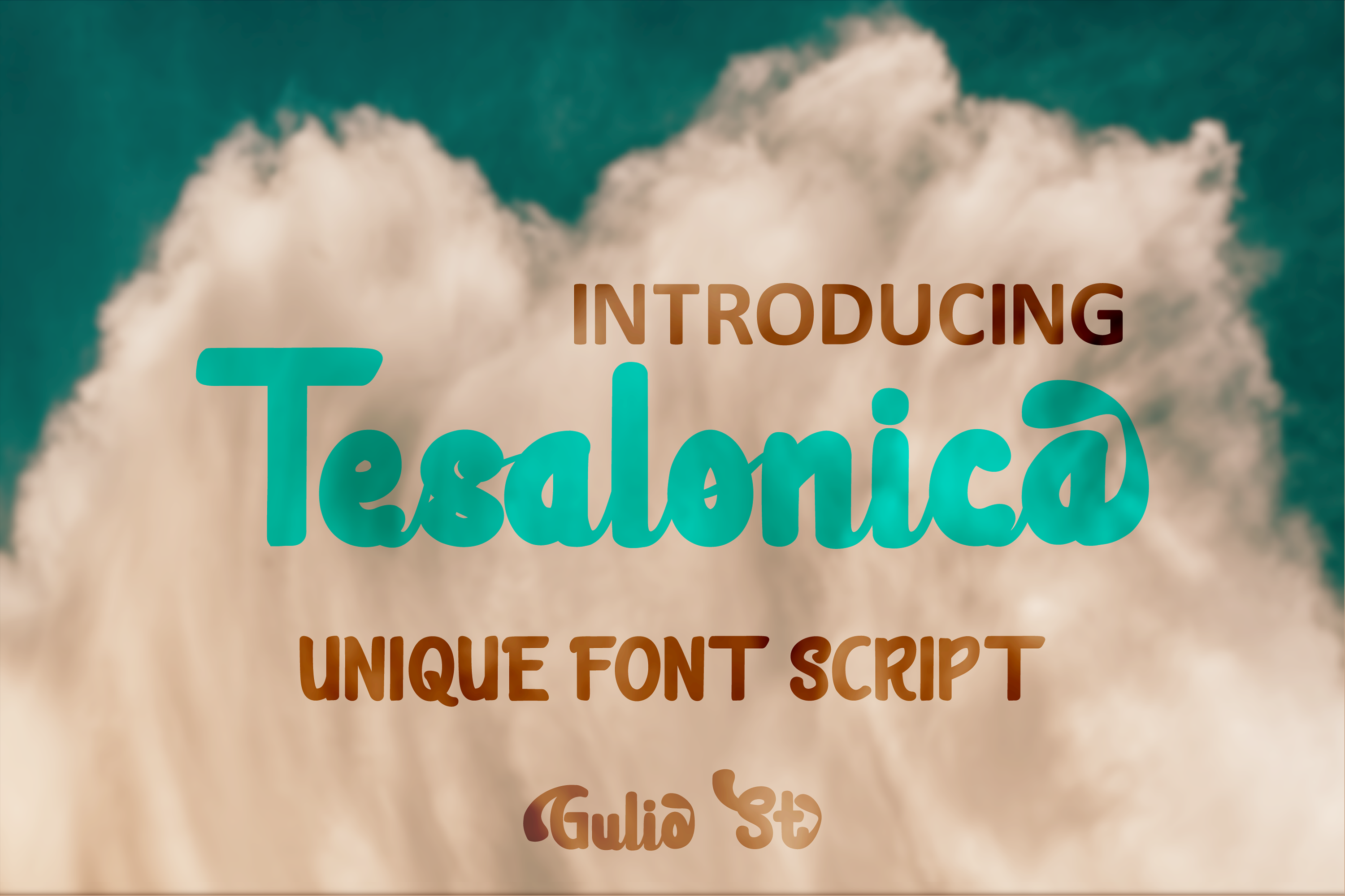 Download Free Tesalonica Font By Guliostudio Creative Fabrica for Cricut Explore, Silhouette and other cutting machines.