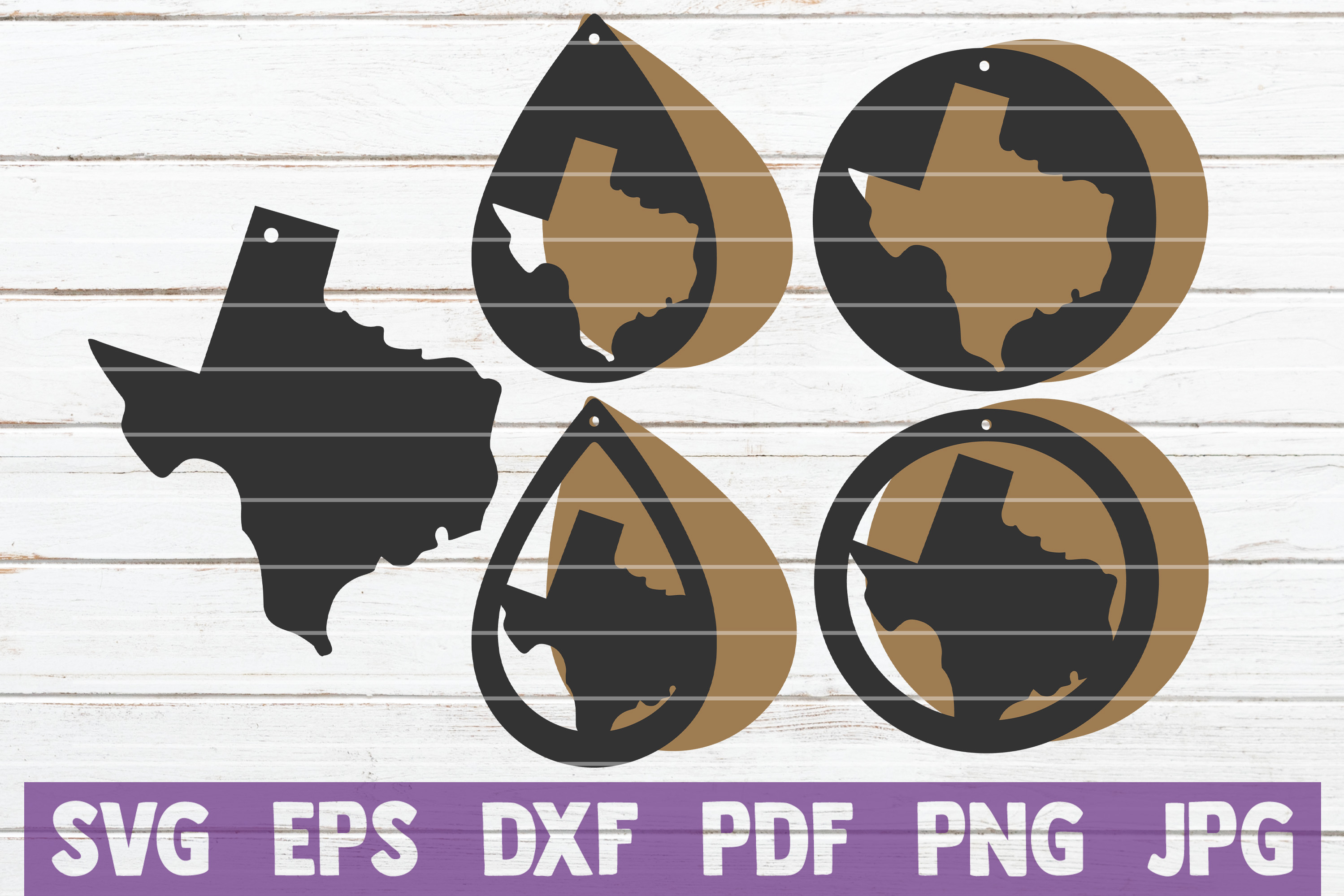 Download Free Texas Earrings Bundle Cut Files Graphic By Mintymarshmallows for Cricut Explore, Silhouette and other cutting machines.
