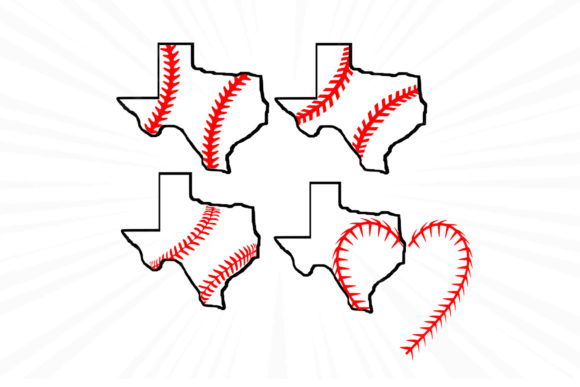 Print on Demand: Texas State,Baseball,Love Graphic Graphic Templates By johanruartist