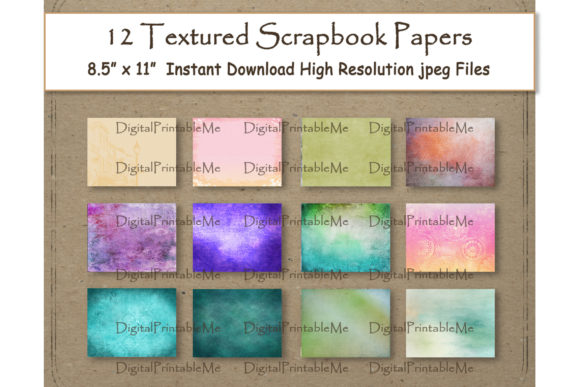 Print on Demand: Textured Digital Paper 8.5 Graphic Backgrounds By DigitalPrintableMe - Image 1