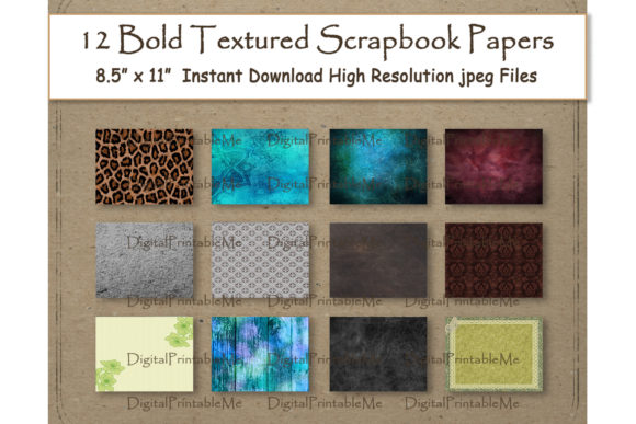 Textured Digital Paper 8.5 Graphic By DigitalPrintableMe