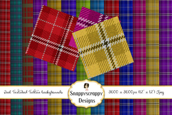 Textured Tartan Backgrounds Graphic Backgrounds By Snappyscrappy - Image 2