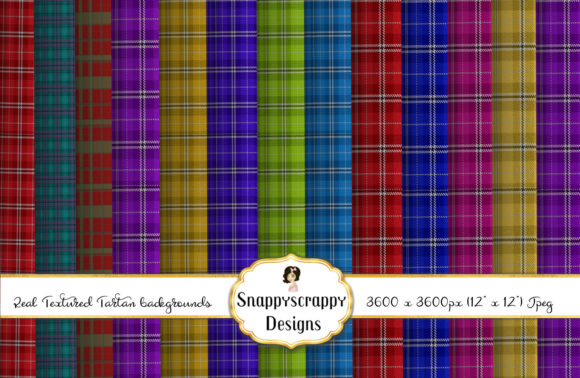 Textured Tartan Backgrounds Graphic Backgrounds By Snappyscrappy - Image 1