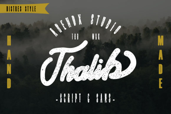 Print on Demand: Thalib Script & Handwritten Font By Arendxstudio - Image 2