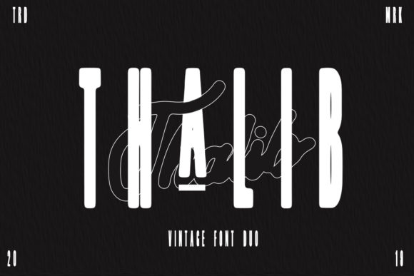 Print on Demand: Thalib Script & Handwritten Font By Arendxstudio - Image 1