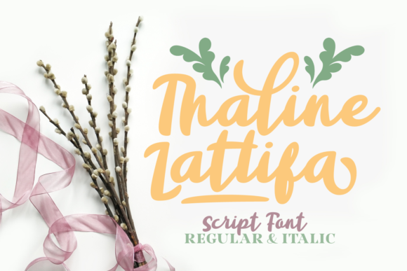 Print on Demand: Thaline Lattifa Script & Handwritten Font By Rifki (7ntypes)