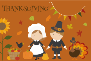 Thanksgiving Set Graphic By poppymoondesign