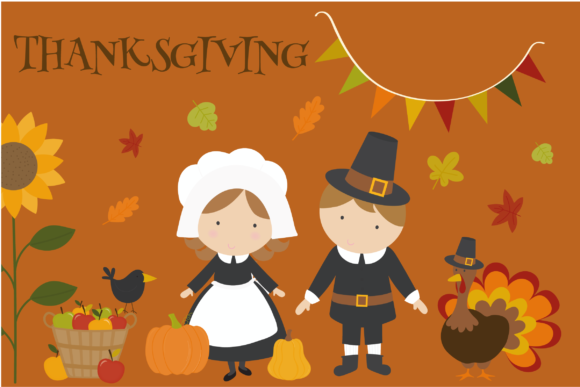 Print on Demand: Thanksgiving Set Graphic Illustrations By poppymoondesign