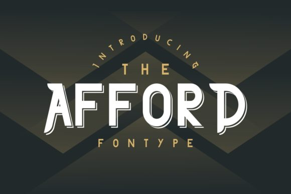 Print on Demand: The Afford Serif Font By EdricStudio