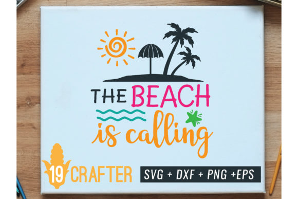 Print on Demand: The Beach is Calling Summer Svg File Graphic Crafts By great19