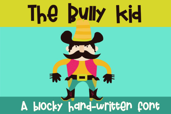 Print on Demand: The Bully Kid Script & Handwritten Font By Illustration Ink