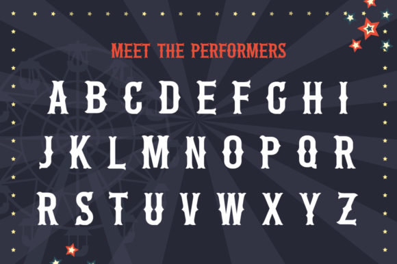 Print on Demand: The Circus Display Font By Salt & Pepper Designs - Image 4