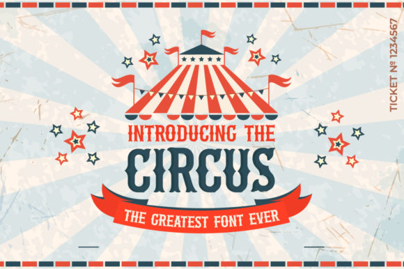 Print on Demand: The Circus Display Font By Salt & Pepper Designs