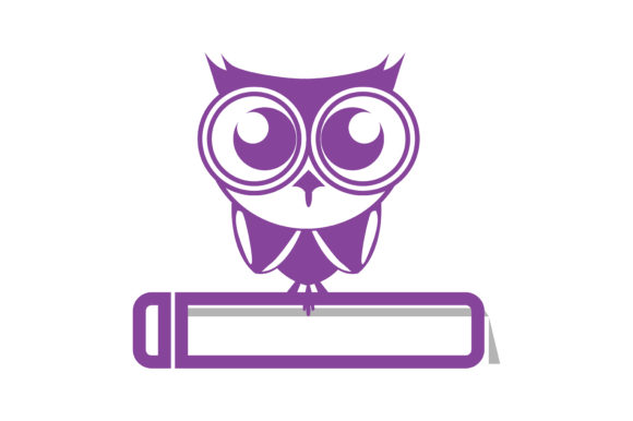Download Free The Clevers Owl And Book Icon Graphic By Yuhana Purwanti for Cricut Explore, Silhouette and other cutting machines.
