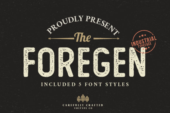 Print on Demand: The Foregen Display Font By vultype